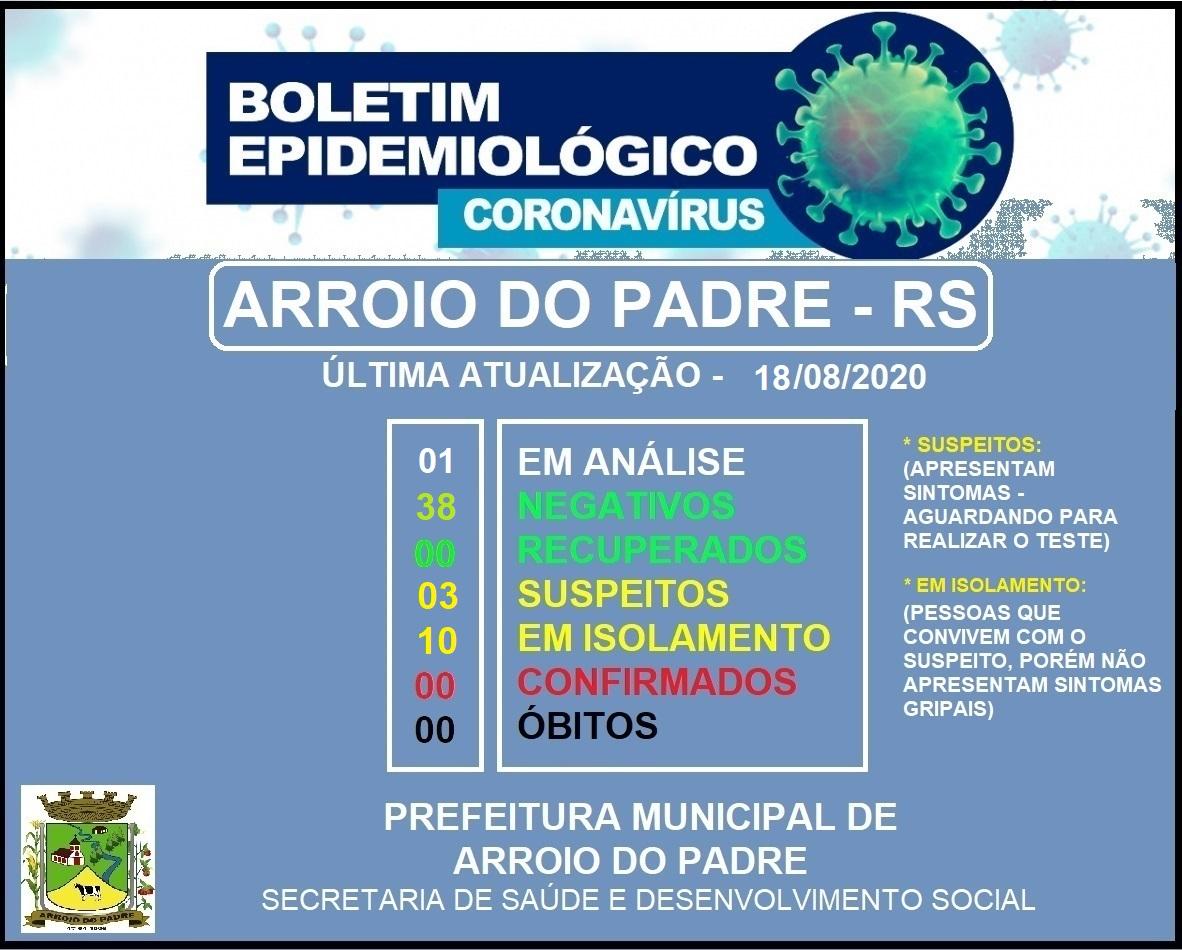 BOLETIM EPIDEMIOLÓGICO 18-08-2020